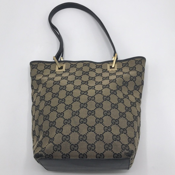 2579859d5b24 Gucci Bags | Authentic Gg Monogram Canvas Leather Tote | Poshmark